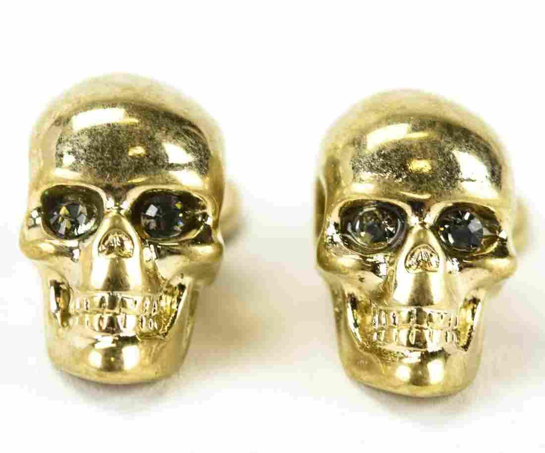 Pair Alexander McQueen C 1995 Skull Cuff Links