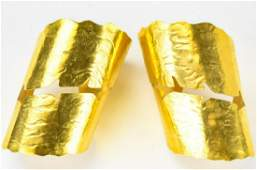 Pair Mary McFadden Hand Crafted Cuff Bracelets