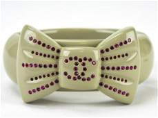 Chanel Spring 2002 Rhinestone Clamper Bracelet