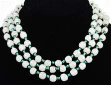 Vintage Miriam Haskell C 1960s Art Glass Necklace