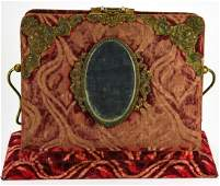 Antique Victorian Velvet Photo Album Stand