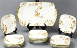 Antique Limoges Porcelain Platter 12 Lunch Plates