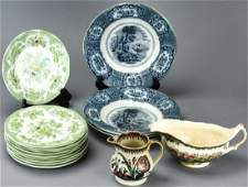 Antique Porcelain Transfer Ware Staffordshire Kent