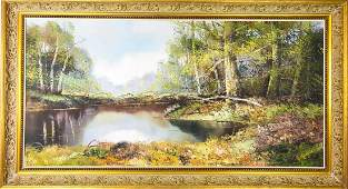 Rothschild Oil Painting Landscape Scene