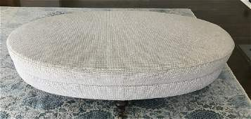 Contemporary Lee Industries Oval Ottoman