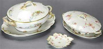 Collection Limoges France Porcelain Serving Pieces