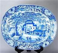 Large Antique 19th C English Ironstone Platter