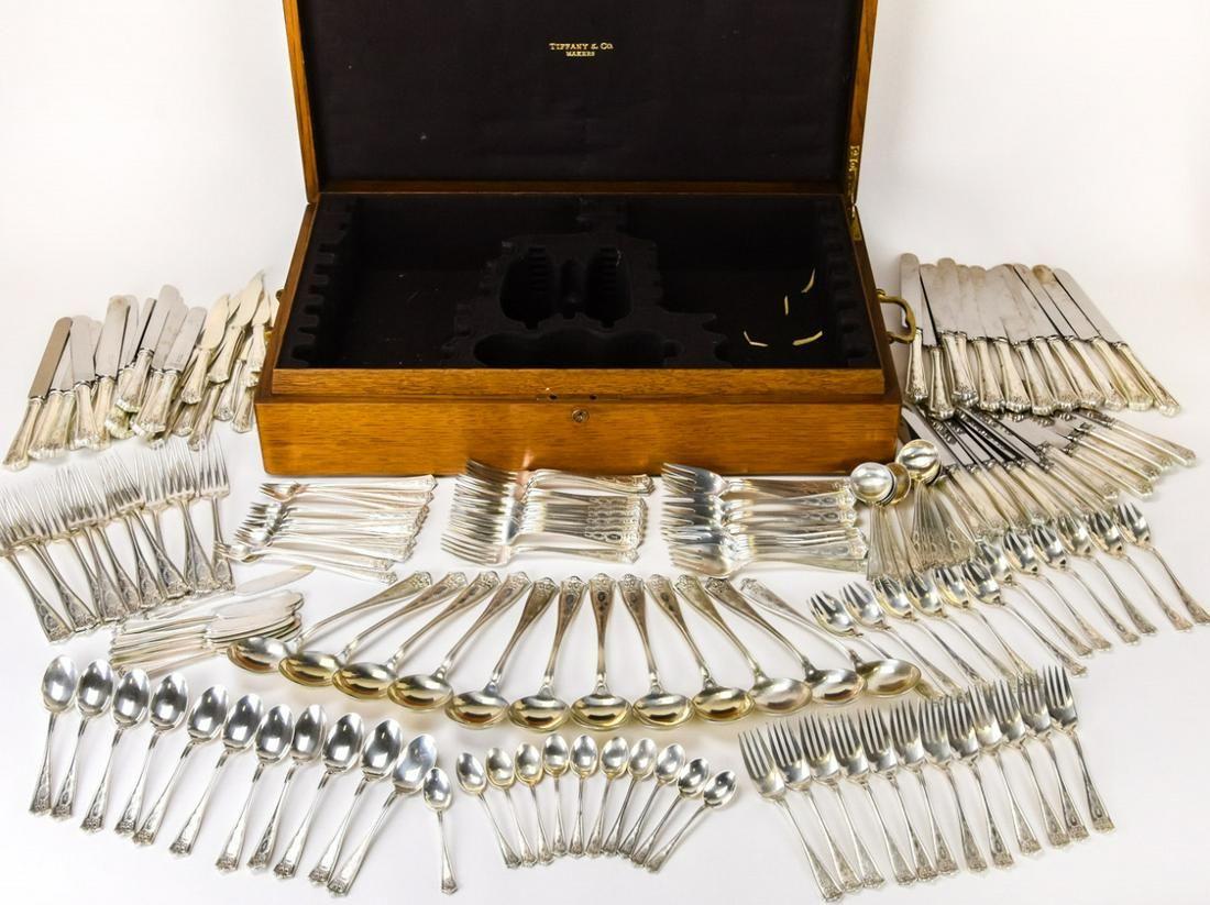 Antique Tiffany & Co Sterling Silver Flatware Set