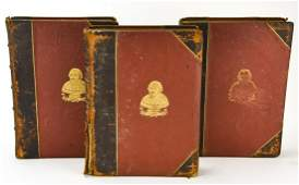 Set of  Antique 19th C Leather Shakespeare Books