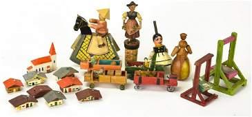 Antique  Vintage German Carved Wood Miniatures
