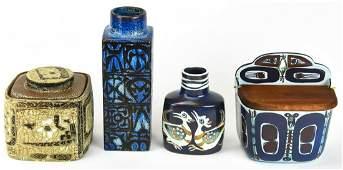 Four Pieces of Royal Copenhagen Art Pottery