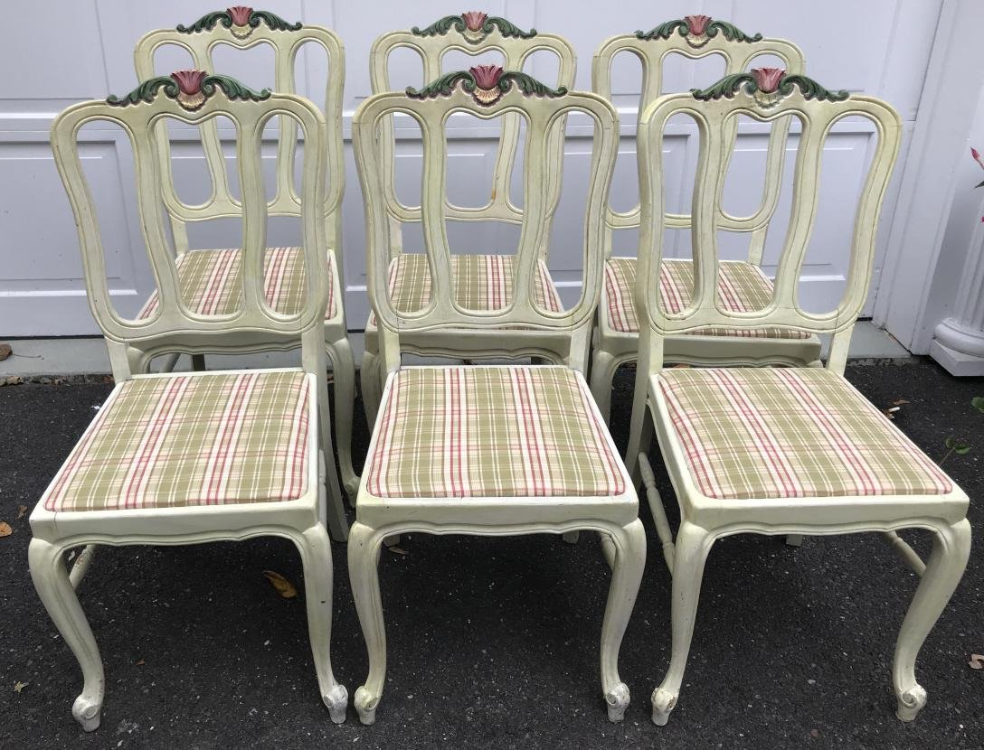 Set of French Country Provencal Dining Chairs