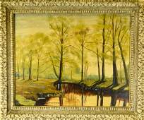 W Wilson McNeary Landscape Scene Oil Painting