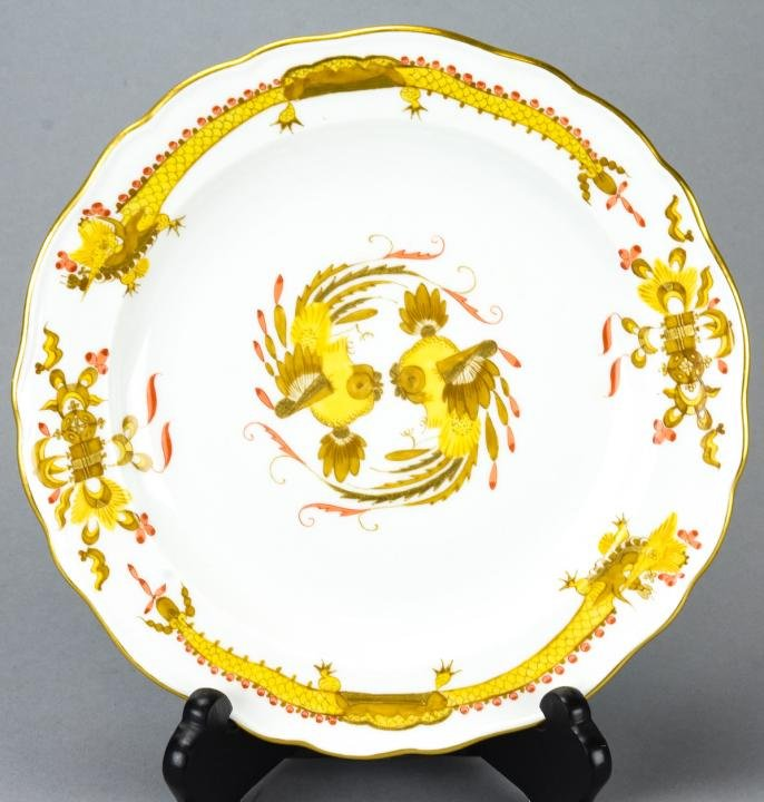 Antique German Meissen Hand Painted Dragon Plate