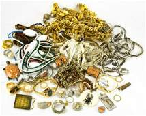 Large Collection of Vintage Costume Jewelry