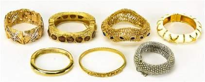 Lot of Vintage Designer Costume Jewelry Bracelets