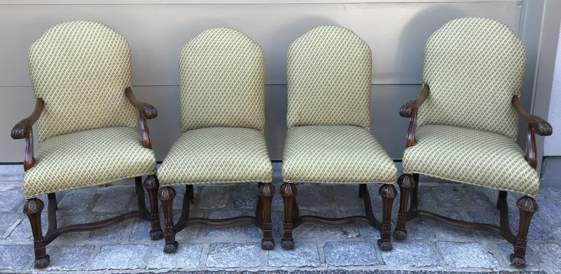 Four Antique Italian Renaissance Dining Chairs