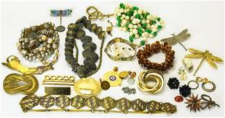 Lot of Vintage Mid Century Costume Jewelry