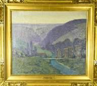 George Elmer Browne Framed Signed Oil Painting