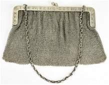 Antique Sterling Silver Mesh Handbag / Purse