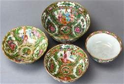 Collection of Chinese Rose Medallion Bowls