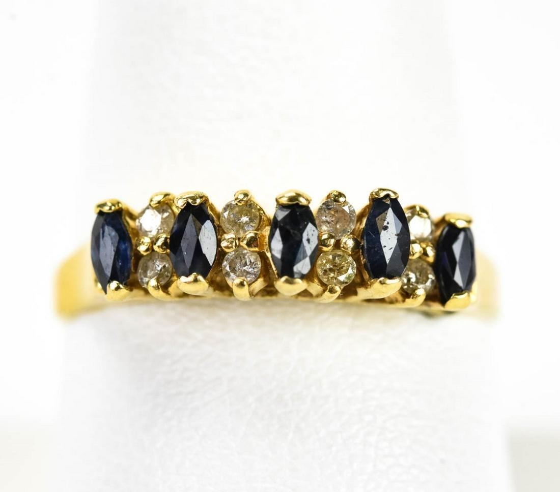Estate Sapphire and Diamond 14K Gold Ring