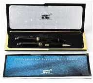 Mont Blanc Boxed Pen  Pencil Gold Filled Set
