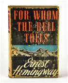E Hemingway First Edition For Whom the Bell Tolls