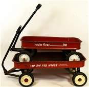 Pair Vintage Radio Flyer  Roadmaster Red Wagons