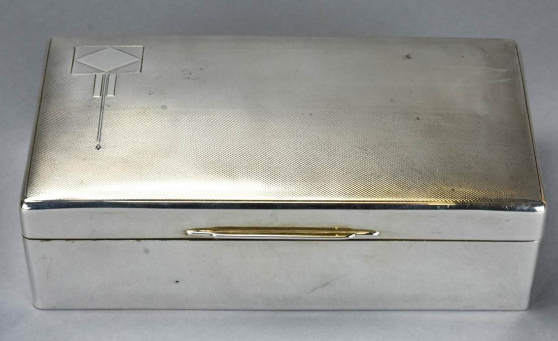 Walker & Hall Art Deco English Sterling Box