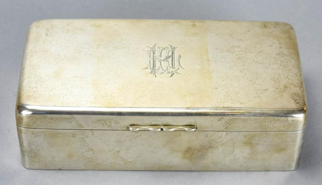 Antique English Sterling Silver Box w London Marks