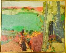 Gabriel Godard Abstract Landscape Oil Painting
