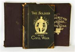 3 Antique Oversized Civil War Illustrated Books