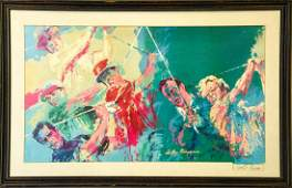 Leroy Neiman Signed Lithograph Golf Subject