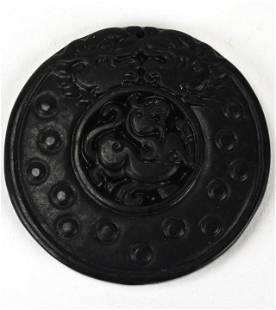 Chinese Hand Carved Hardstone Foo Dog Pendant