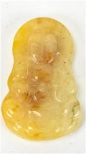 Chinese Hand Carved Jade Buddha Pendant