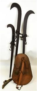Trio Antique Industrial Beam Cast Iron Scales