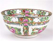Chinese Porcelain Rose Medallion Bowl - Signed