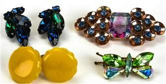 Collection Vintage Rhinestone & Bakelite Jewelry