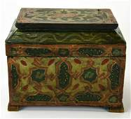Antique Handmade & Hand Painted Tea Caddy