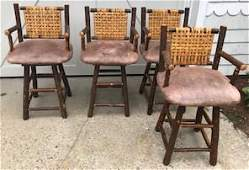 4 Old Hickory Style Armchairs
