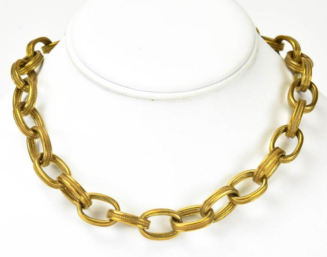 Vintage Miriam Haskell Rope Motif Necklace Chain