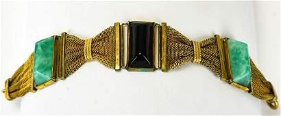 Antique Art Deco C 1920s Art Glass Bracelet
