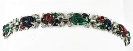 Antique C 1920s TKF Trifari Art Deco Bracelet