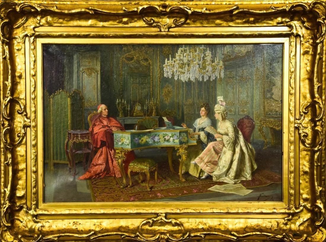 Giuseppe Ballesio Italian Oil Painting of Cardinal