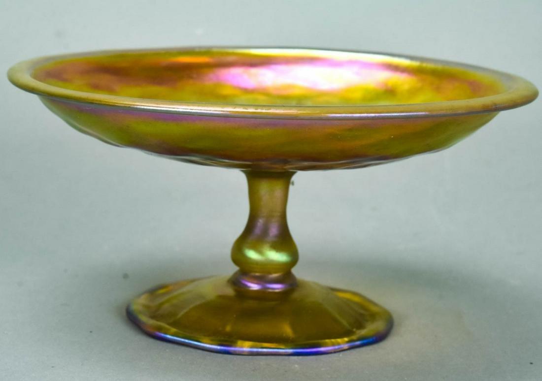 Antique Louis Comfort Tiffany Favrile Glass Tazza