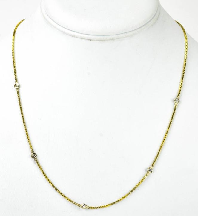 14kt Yellow Gold & Diamonds by the Yard Necklace