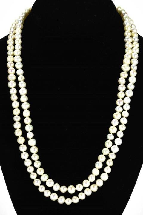 Opera Length Hand Knotted Baroque Pearl Necklace