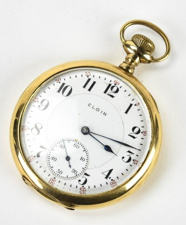 Antique Elgin 17 Jewel Gold Filled Pocket Watch