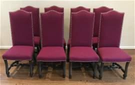 Custom Upholstered Italian Baroque Dining Chairs
